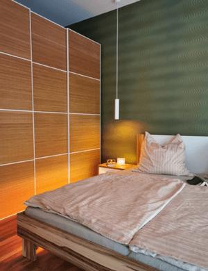 Schlafzimmer in einem Loxone Smart Home von Logic Home